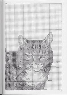 Just Cross Stitch Patterns---PAGE 3 OF 5---BROWN TABBY