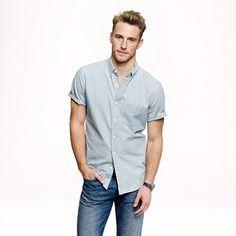 J.Crew - Short-sleeve shirt in Japanese indigo chambray