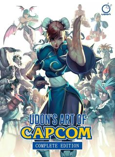 Once again, Chun Li takes center stage amongst a horde of gaming icons. Art of Capcom