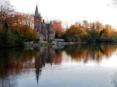 Minnewater (minnen = loving in Flemish), Bruges, Belgium