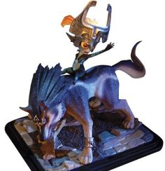 First Figures The Legend of Zelda: Twilight Princess: Wolf Link and Midna Statue