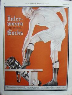J.C. Leyendecker, Interwoven Socks ad, illustration art. From the collection of Tony Peters.