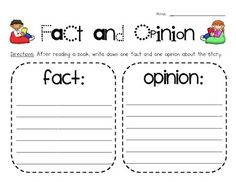 Your students will show what they've learned about the difference between facts and opinions using this practice page. After reading a book on thei...