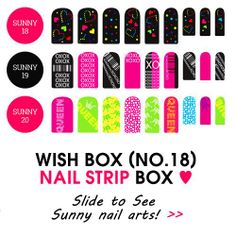 [Wish Box] Hello, WISHers,  Spring is coming!  Your favorite beauty box, Here is the 18th Wish Box. At this time, You can meet these various & beautiful nail strips in a wish box at Wishtrend now.   Grab this chance!  [WISH BOX] WISH BOX (No.18) : Nail Strip Box ▶http://www.wishtrend.com/wish-box/941-wish-box-no18-nail-strip-box.html?a_aid=Facebook