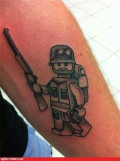 Lego army tattoo
