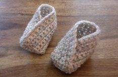 Pattern is for newborn but can easily be adjusted to make larger sizes. These booties are crochet with DK yarn using only SC in a T shape pattern.