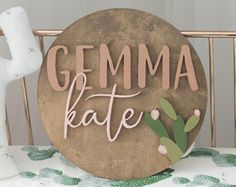 12 Round Wood Sign Personalized Name Sign with Cactus Nursery Decor Cactus Nursery 12 Inch Circle Succulent Decor Boho Nursery Personalized Wood Signs, Wooden Name Signs, Baby Name Signs, Cute Baby Names, Unique Baby Names, Baby Girl Names, Country Baby Names, Pretty Names, Nursery Name