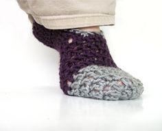 Crochet Slippers Custom Women or Men Slippers by OneStitchDesigns, $20.00