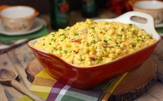 Bacon Beer Mac & Cheese - uses 2 cups milk, 1/2 cup beer, 1/2 cup chicken broth,  shredded cheddar cheese, 1pkg. bacon.