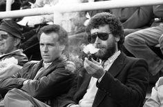 Franz Beckenbauer & Paul Breitner, September 1984, Olympic Stadium, Munich  http://thefootballarchivist.tumblr.com