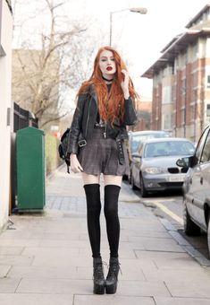 plaid + leather jacket - from Olivia Emily - UK Fashion Blog.