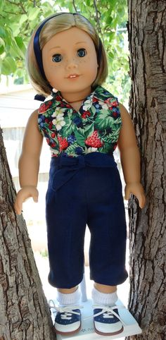 18 Doll Clothes 1950's Style Pedal Pushers Pants by Designed4Dolls $12.95