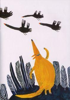 The fox and the wild geese  Author - Majid Shafiee  Illustrator - Rashin Kheirieh