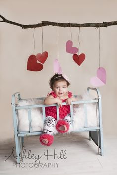 www.ashleyhillphoto.com #valentine mini sessions #heart #baby #baby girl