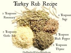 Thanksgiving is right around the corner and this year The Girl Who Thinks She& a Bird has decided to share her top secret turkey rub recipe. She uses this rub along with an entire stick of butter to prepare our bird every year. Best Thanksgiving Recipes, Thanksgiving Cakes, Thanksgiving Side Dishes, Holiday Recipes, Traditional Thanksgiving Recipes, Easy Turkey Recipes, Christmas Desserts, Pumpkin Recipes, Easy Recipes