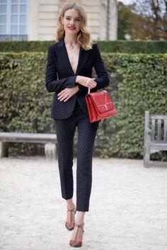 Natalia Vodianova Pantsuit - Pantsuit Lookbook - StyleBistro