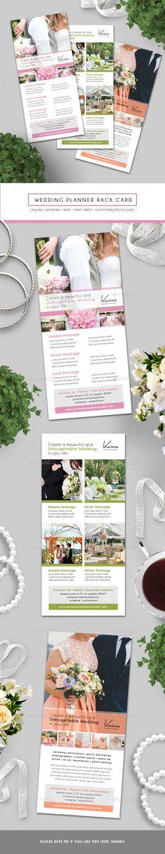 #Wedding Planner #RackCard - Corporate Flyers.Download here: http://graphicriver.net/item/wedding-planner-rack-card/15894397?ref=arroganttype