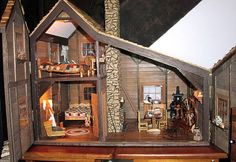 Little House on the Prairie. a model of the Ingalls family home. this is neat!