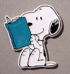 Snoopy Reading Book