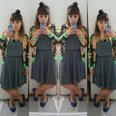 15. Azul #thefabulousproject  minha cor favorita foi a cor da minha roupa hj! E sim, meu cabelo ta meio liso meio ondulado! #ootd #lookdodia #modicesinspira