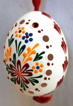 Handpainted real easter Eggs  Perforation   from Czech  and  Moravia