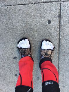 These are another pair of slippers I wore after walking about 650 miles. I cut the front off to make them more comfortable. My feet were so sore I couldn't wear my sneakers. I went through 3 pairs of sneakers and two pairs of slippers on my 800-mile walk :-).