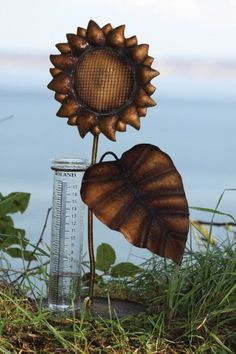 Sunflower Antique Rain Gauge >>> Details can be found by clicking on the image.