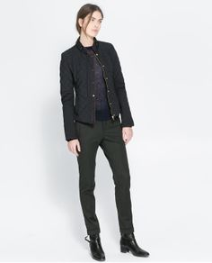 ZARA - NEW COLLECTION - JACKET WITH QUILTED DETAILS