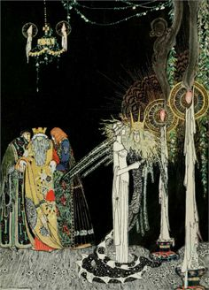 East of the Sun, West of the Moon Kay Nielsen vintage art nouveau print illustration Norwegian folk tale fairy tale inches Kay Nielsen, Art And Illustration, Old Illustrations, Botanical Illustration, Inspiration Art, Art Inspo, Fantasy Kunst, Fantasy Art, Harry Clarke