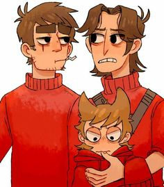 Paultryk--awww tord is so cute Otp, Sweat Vert, Cheveux Oranges, Tord Larsson, Army Humor, Eddsworld Tord, Eddsworld Memes, Army Family, Eddsworld Comics