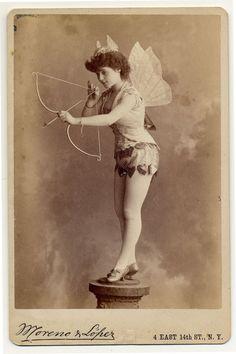 c. 1890: Victorian burlesque dancers