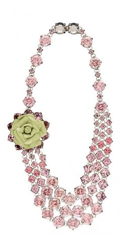 Love this Prada necklace (via Slim Paley).  Makes me think of lady like dresses and afternoon tea