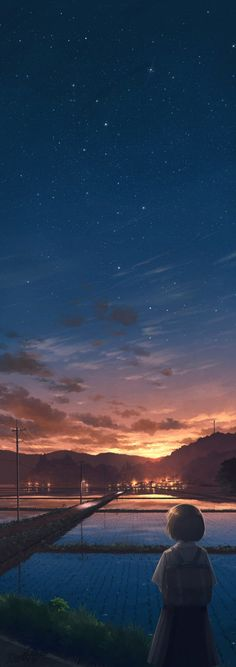 37 Ideas for landscaping pictures sky Graphisches Design, Buch Design, Aesthetic Art, Aesthetic Anime, Japon Illustration, Anime Scenery Wallpaper, Sunset Wallpaper, Art Anime, Oeuvre D'art