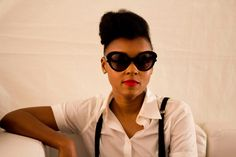 Janelle Monáe backstage at the 2012 AfroPunk Featival. Photo by Stephanie Olga.