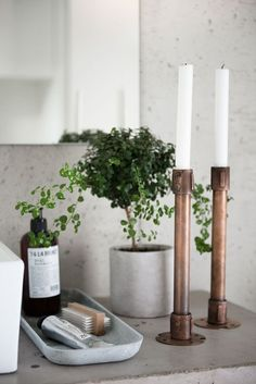 5 Things Minimalist Apartments Make Room For | Minimalist Home Decor Inspiration | Scandanavian Interiors | Luxury Candles & Candle Stick Holders