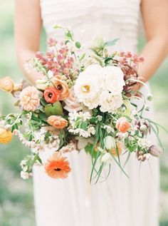 61 Bright Spring Wedding Bouquets | HappyWedd.com