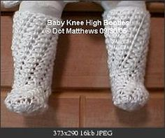 Baby knee high bootie @ Crochetville