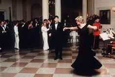 2,394 Princess Diana White Photos and Premium High Res Pictures Nancy Reagan, Ronald Reagan, John Travolta, Camilla Parker Bowles, Lady Diana Spencer, Princesa Diana, Diana Fashion, Royal Fashion, Alexa Chung