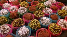 Chocolate truffles, tartufi di cioccolato