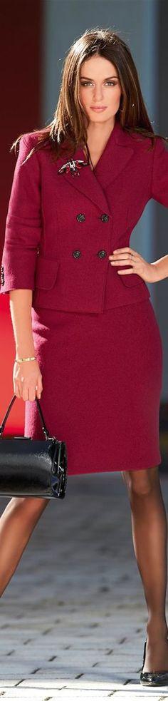 Madeleine Fall 2014 ● Madeleine Skirt and Blazer: @roressclothes closet ideas women fashion outfit clothing style