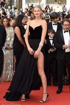 So sexy! Toni Garrn caused quite a commotion when she attended the Cannes Film Festival on...