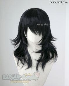 My hero academia aizawa shota eraserhead long black layered cosplay wig Cosplay Hair, Cosplay Makeup, Cosplay Wigs, Anime Wigs, Anime Hair, Kawaii Hairstyles, Cute Hairstyles, Kawaii Wigs, Hair Reference