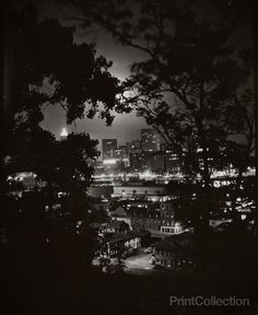 Night View through Trees of Pittsburgh, W. Eugene Smith #nightphotography