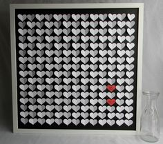Large size wedding guest book alternative 3D paper hearts lovely bridal shower gift. modern guestbook for the bride and groom great gift by PrettyProposal on Etsy https://www.etsy.com/listing/127603873/large-size-wedding-guest-book