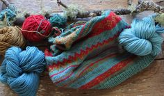 Fairisle Knitting using Harvest Wool by Timber and Twine