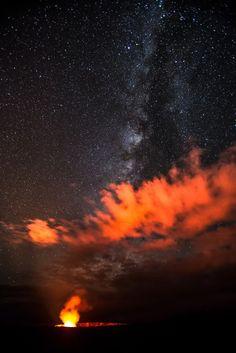 Milkyway Over Halemaʻumaʻu Crater. Photo & caption by Zong Ye Quek.  Photo Location: Big Island, Hawaii