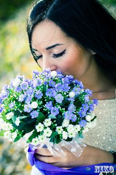 Forgetmenot Bridal Bouquet  Wedding Flower and by DreamlikeMeadow, $48.00 ....something like this would be pretty