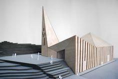 model of the Community Church, Knarvik - by Reiulf Ramstad Arkitekter