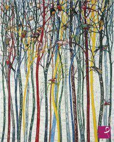 quadro in vendita online dal pittore Bruno  Di Pietro Paesaggio Esotico - Olio su tela e collages