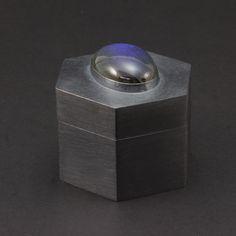 Hexagon Box with Labradorite